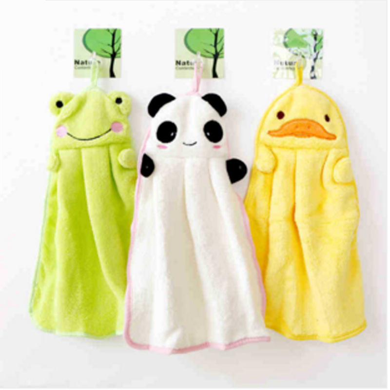 Childrens Bathroom Products Toddlers Nursery Hand Towel Boys And Girls Cartoon Creative Wipe Hanging Bathing Towels Infants Care