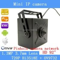 PU'Aimetis 1.3MP 3.7mm lens mini pinhole ip 1280*720 P sistema di sicurezza domestica cctv di sorveglianza HD onvif video P2P cam
