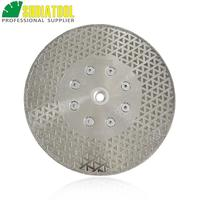 DIATOOL 1pc Electroplated diamond cutting & grinding blade marble Both side coated diamond disc