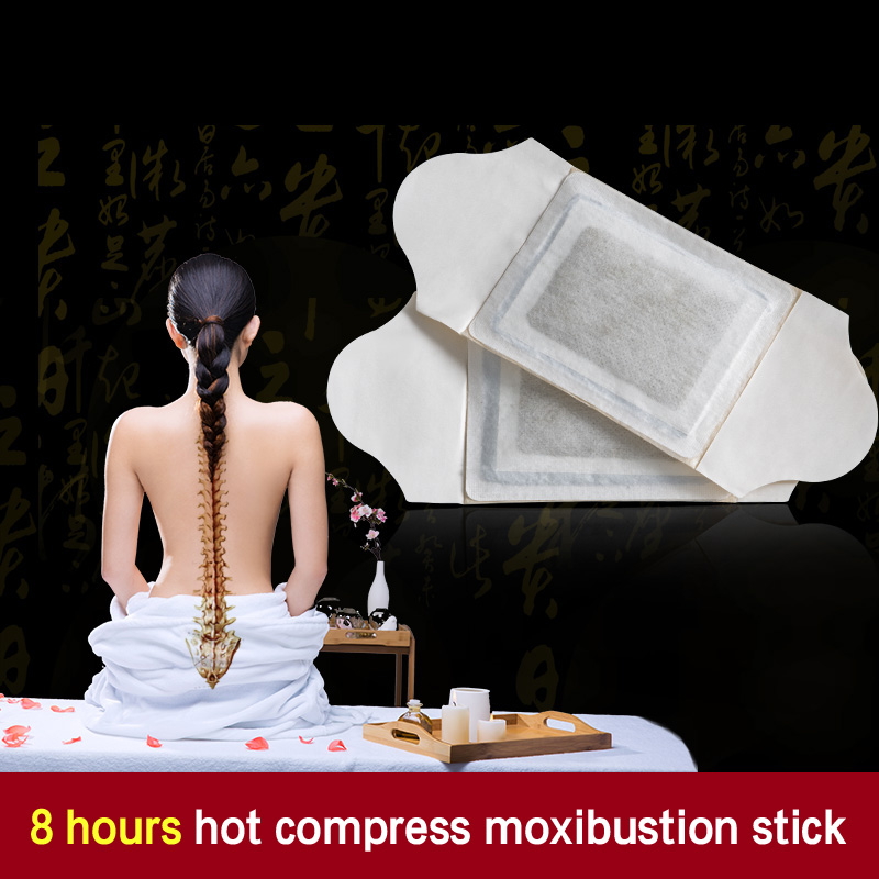 10 Pcs Moxibustion Stickers Palace Cold Physiotherapy Wormwood Moxa Paste Navel Attached Shoulder Neck Hot Paste Ai Warm Warm black v neck cold shoulder playsuit