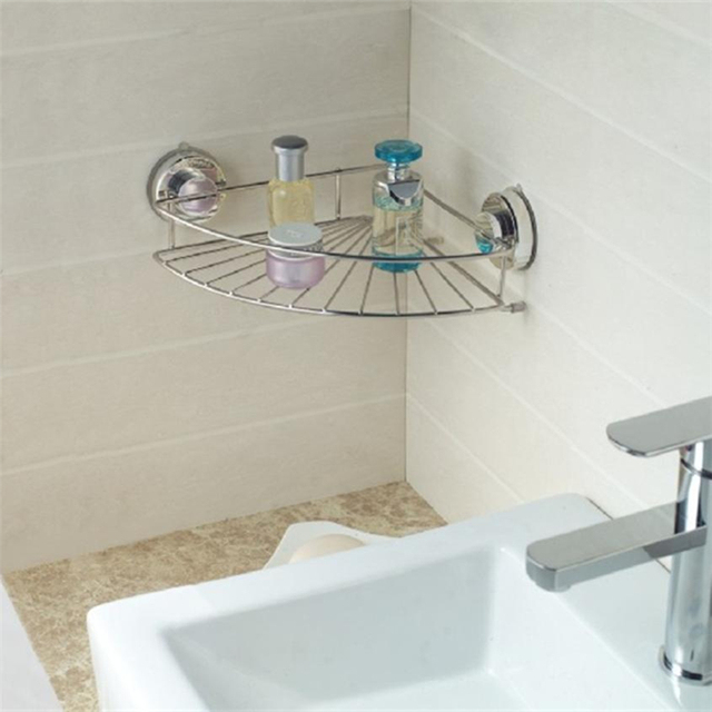 2018 New Corner Shelf Shower Basket Stainless Steel Bathroom Shelf ...