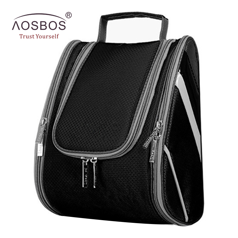 Aosbos Travel Cosmetic Bag Multifunctional Hanging Toiletry Bag Large Capacity Waterproof Portable Makeup Organizer necessaire luxcel travel accessory fashion cosmetic case bag large capacity portable women makeup necessaire storage