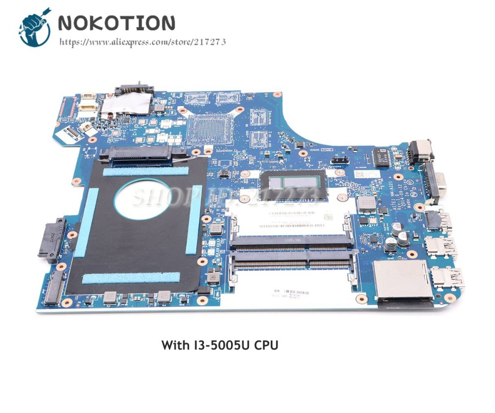 NOKOTION 00HT777 AITE1 NM A221 Main Board For Lenovo Thinkpad E550 Laptop Motherboard I3 5005U CPU