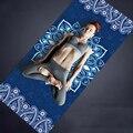 183*68CM * 6MM Natuurlijke TPE Suede yoga MAT Heath yoga PRO yoga Mat met Body Alignment lijnen antislip Comfortabele Fitness Matten