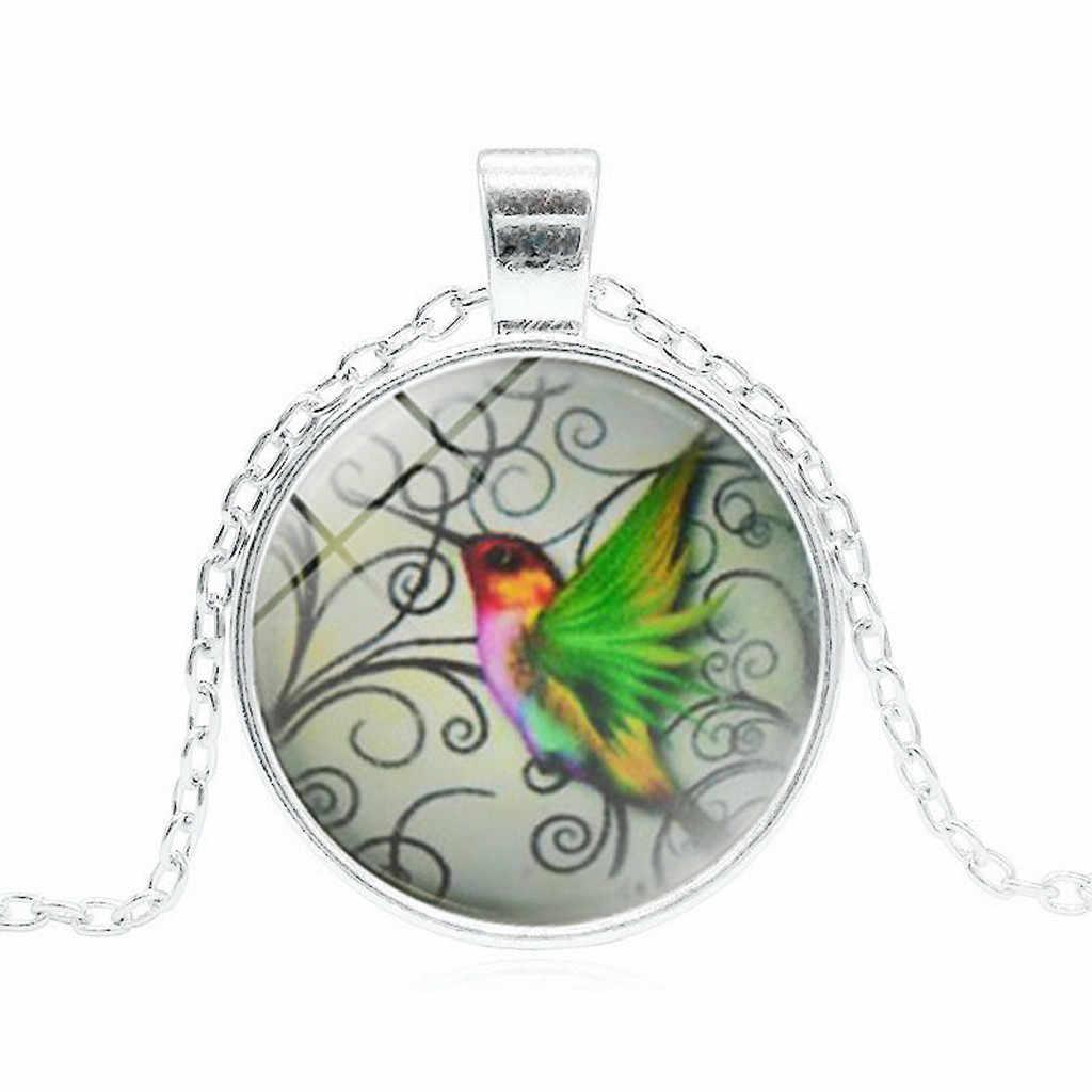 Frauen Halskette Choker Erklärung Anhänger Kolibri Schmuck Blau Hummingbird Halskette Charme Anhänger Halskette Hochzeit Geschenk #30