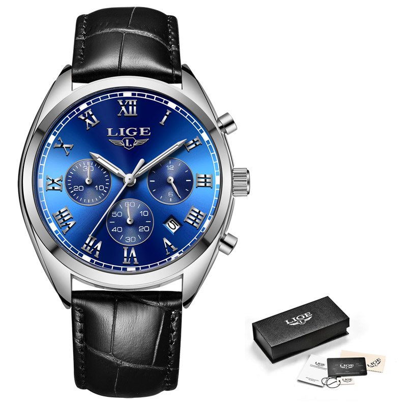 leather silver blue