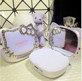 Luxury Hello Kitty makeup Mirror Power Bank 9000mAh High Quality External Powerbank portable battery charger With package