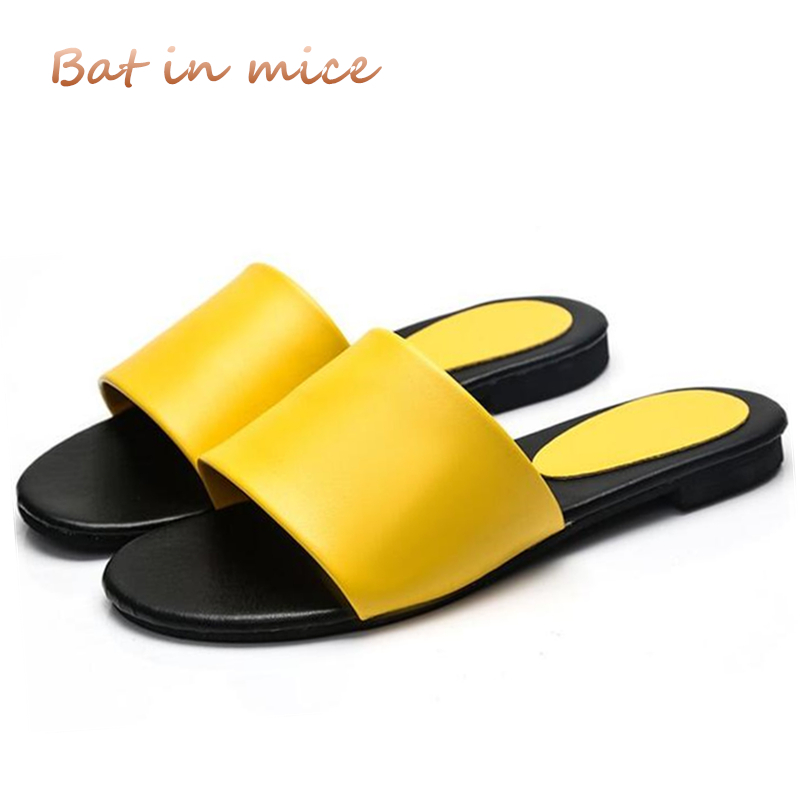 10 colors slippers 2018 Summer Woman Shoes bath slippers Wedge Beach Flip Flops Slippers For Women Brand Ladies Shoes Mujer S046 2018 women fur slippers luxury real fox fur beach sandal shoes fluffy comfy furry flip flops