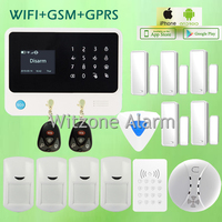 Original G90B WIFI GSM Intruder Alarm System Touch Keypad IOS Android APP Controlled Home Secure Alarme