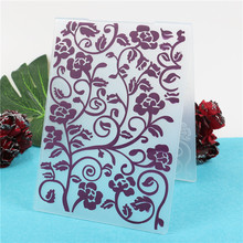 Rose Flowers Stamps Plastic Embossing Folders DIY Scrapbooking Paper Card Making Craft Template