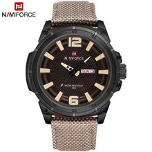 2016 Luxury Brand Military Watch Men Quartz Analog Clock Leather Canvas Strap Clock Man Sports Watches