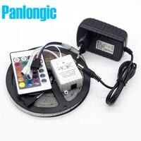 Водонепроницаемый LED RGB Полосы Света SMD3528 IP65 Fiexble Светодиодные 60LED/М 5 М DC 12 В Адаптер Питания 2А Бесплатная доставка RGB Strip Лампа