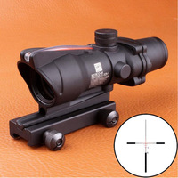 Hunting ACOG 4X32 Scope Real Fiber Source Red Green Orange Illuminated Scope Black Tan Color Tactical Riflescope for Rifle