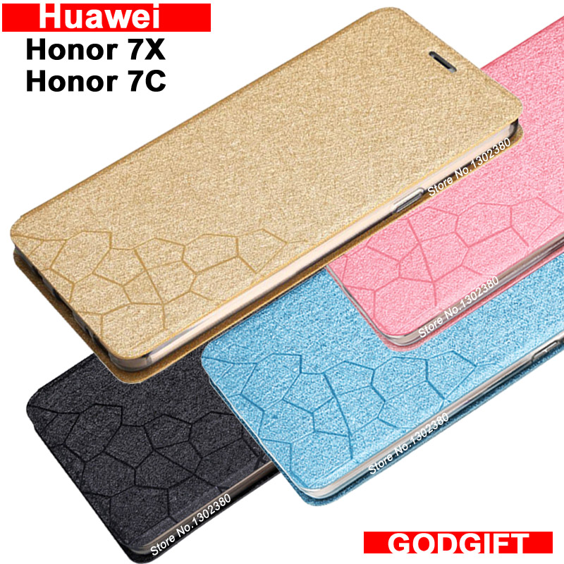 Galleria fotografica Huawei <font><b>Honor</b></font> <font><b>7x</b></font> case cover leather luxury water cube pu flip case for Huawei <font><b>Honor</b></font> 7 x cover 4 style Huawei <font><b>Honor</b></font> 7C case 7 C