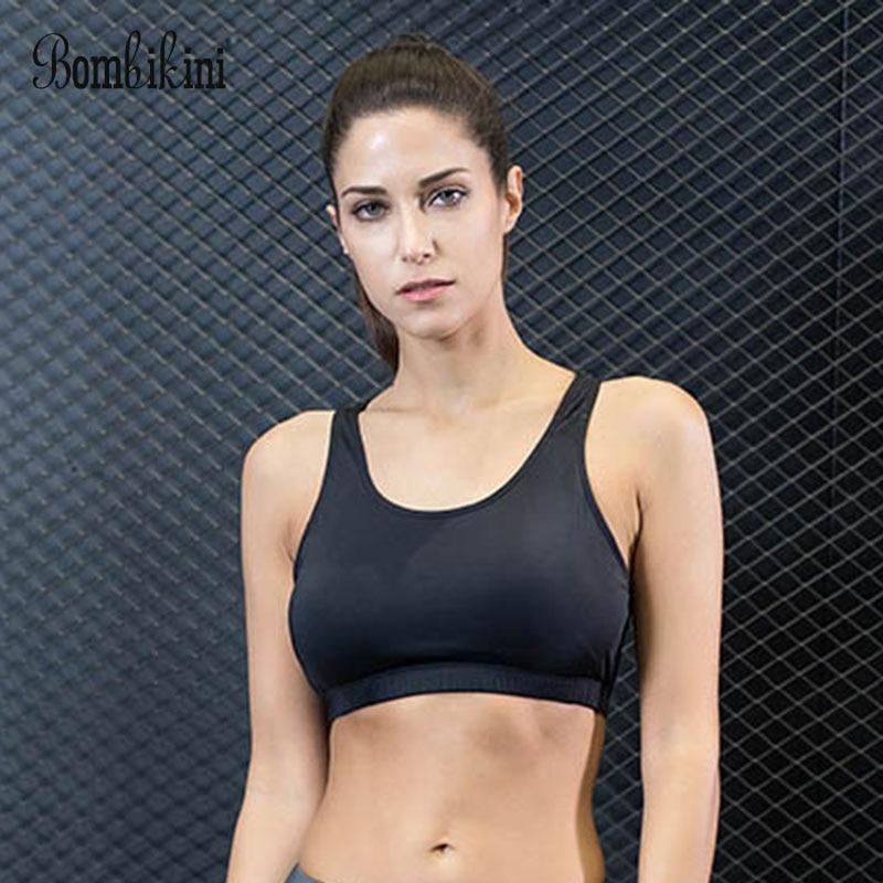 Women Fitness Push Up Yoga Top Sports Bra For Running Gym