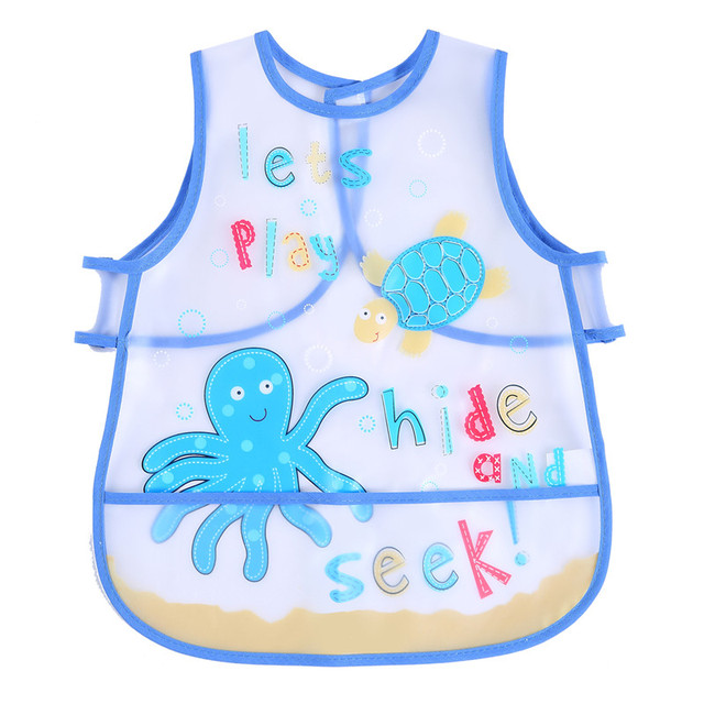 LionBear Apron Baby Bibs for babies Adjustable Cartoon 100% EVA Waterproof Feeding Infants scarf 6-24 month baby Accessories