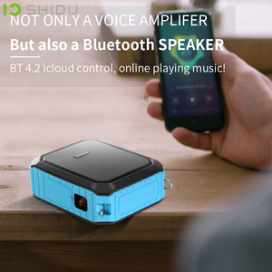Image 5 - Shidu 18W Draagbare Draadloze Bluetooth Speaker Waterdichte Voice Versterker Met Uhf Microfoon Voor Leraar Ondersteuning Aux Tf Usb Disk