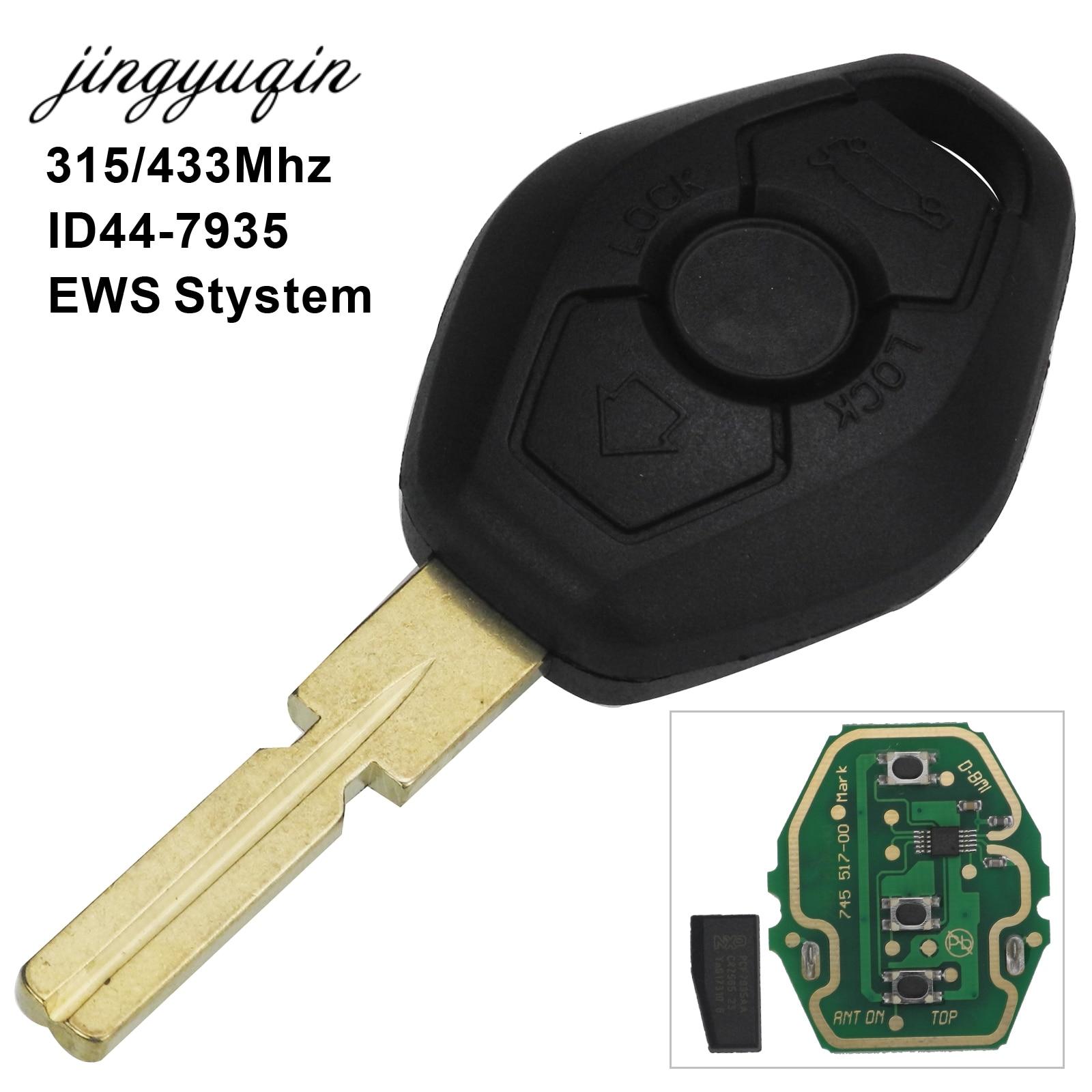 jingyuqin Remote Control Key 3 Button 315MHZ/433MHz ID44- Chip HU58 For BMW 3 5 7 Series E38 E39 E46 цена и фото