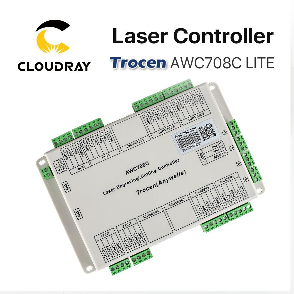 Cloudray Trocen Anywells AWC708C LITE Co2 laserkontrolleri süsteem - Puidutöötlemismasinate varuosad - Foto 4