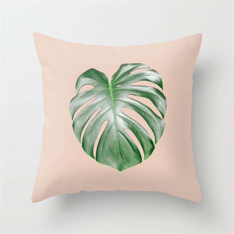 Throw Pillow Case Plants Leaves Pattern Home Essential Pillowcase For Couch Living Room Bed FPing