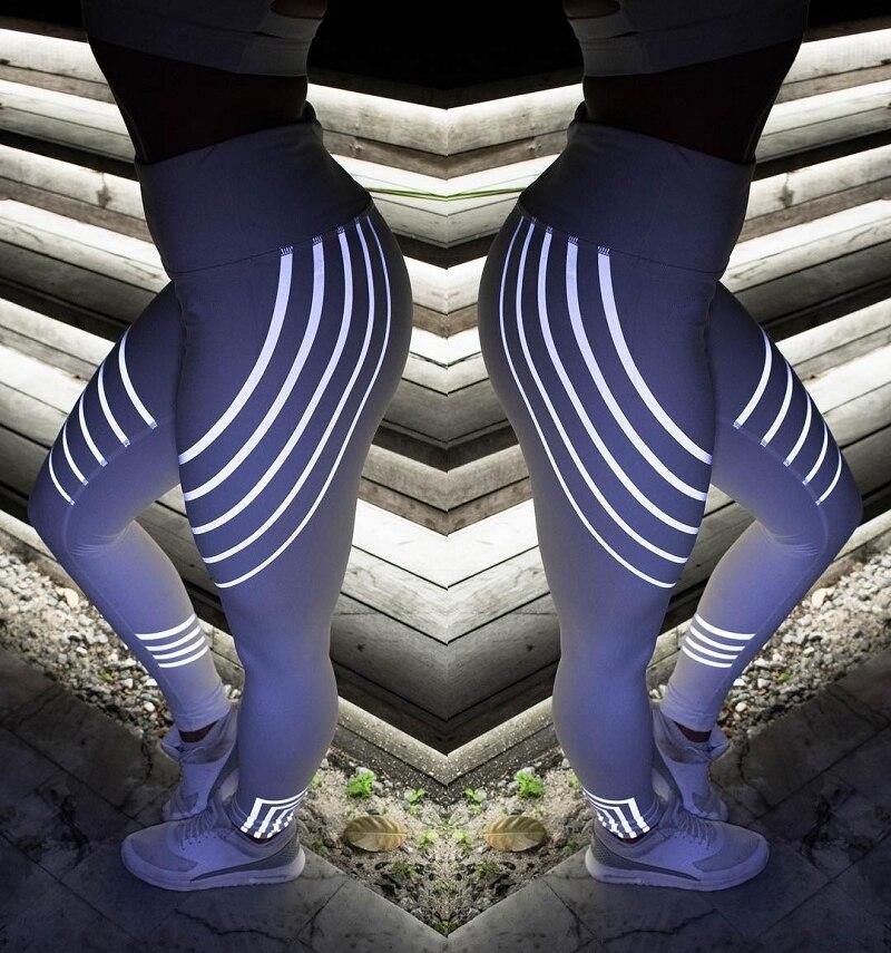 Yoga Leggings Quick Dry Yoga Pants Female Leggins Sport Women Fitness Night Glowing Tights Sport Fitness Gym Leggings Seamless  2
