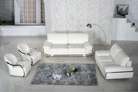 2016 New Armchair European Style Set No Sofas For Living Room Bean Bag Chair Real Leather Modern Design Steel Frame White Sofa