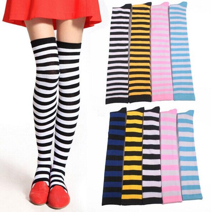 anime girls in striped stockings