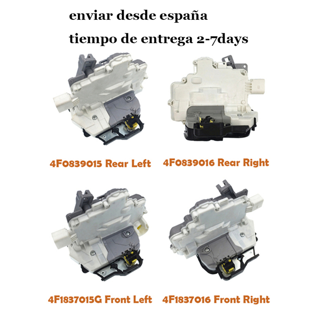 Free Shipping Front Rear Left Right Door Lock Actuator 4F1837015G 4F1837016 4F0839015 4F0839016 For AUDI A3 A6 C6 A8 R8