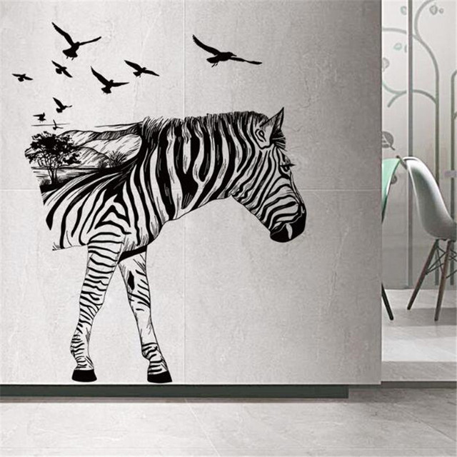 IDFIAF Zebra Wall Decals Modern Art Decoration For Your Kitchen Bedroom Or  Livingroom , Zebra Wall