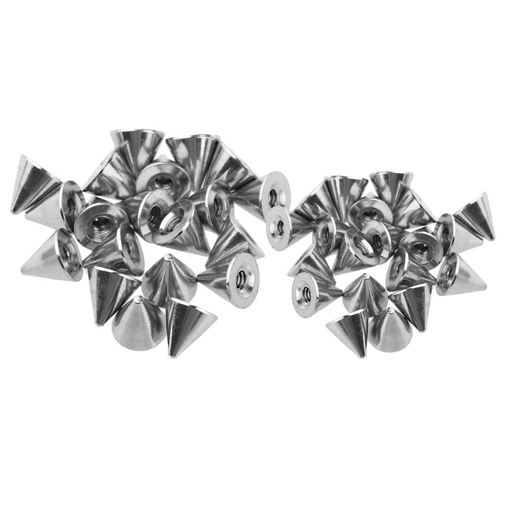 40 Piece 1.6 x 5mm Stainless Steel Body Jewelry Replace Cone Ball End Silver