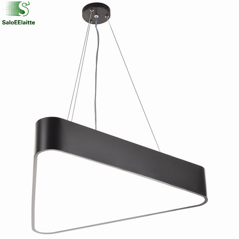 Modern Lustre luminaria Triangle Led Pendant Light Dimmable Office Pendant Lamp Indoor Lighting Fixture Lampadas Suspension Lamp