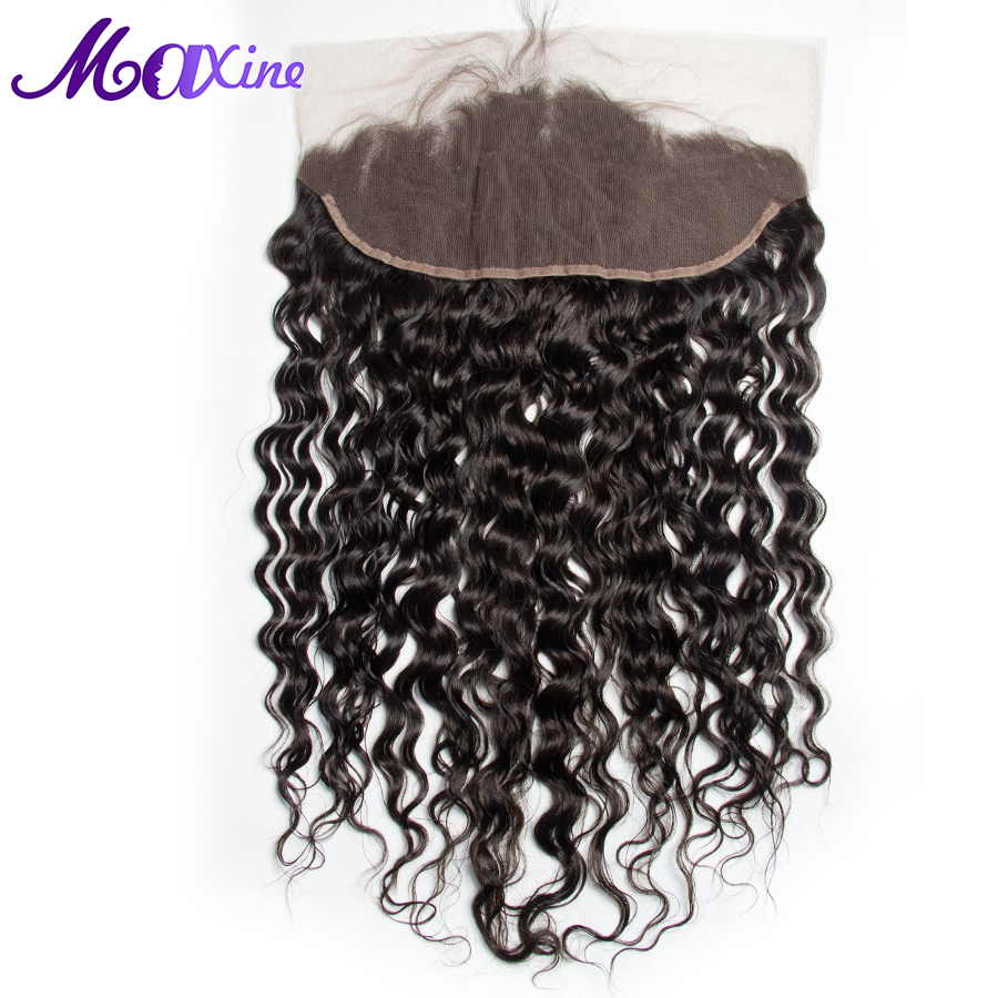Maxine Hair Remy Human Hair Water Wave Pre Plucked 13x4 Ear To Ear Lace Frontal Closure