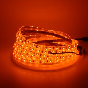 Image 2 - LED ストリップライト 600nm 真オレンジ SMD 5050 3528 ストリップリボンダイオードテープロープライト 12 ボルト 1 メートル 2 メートル 5 メートル柔軟なストリップ文字列ランプ