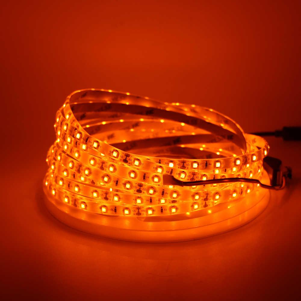 LED רצועת אור 600nm אמיתי כתום SMD 5050 3528 רצועת סרט דיודה קלטת חבל אורות 12 v 1 m 2 m 5 m גמיש רצועת מחרוזת מנורה