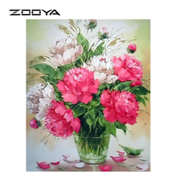 China Online Shopping 3D Diamond Painting Manufacturer Various Size Digital Flower Diamond Oil Painting Home Decor