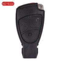 Vervanging Remote Key Shell Case Fob 3 Knop + Batterijhouder voor Mercedes * Benz C E CLS CLK SLK