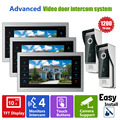 Homefong 10  inch Door Intercom Phone Video Doorbell System with  Camera Wired Video  1200TVL 2V3 Home Apartment Entry Kit
