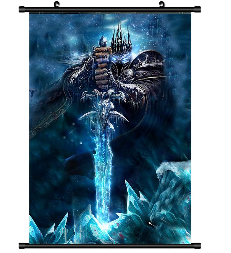 US $5.98 |POSTER Online Game World of Warcraft Wall Scroll Printed Painting  Home Decor Japanese Cartoon Decoration Poster 60*90cm-in Painting & ...