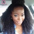 7А Клип В Расширениях Человеческих Волос 7 Шт. 120 Г Kinky Curly Clip Ins Афро-Американской Странный Вьющиеся Клип В Наращивание волос