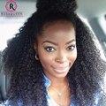 7A Grampo Em Extensões de Cabelo Humano 7 Pcs 120G Crespo Encaracolado Clipe Ins Africano Americano Kinky Curly Grampo Em Extensões de cabelo