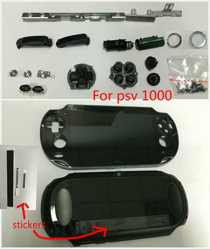 original for psvita for ps vita psv 1000 game lcd screen assembly back cover 3G or