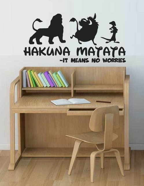 Simba Movie Hakuna Matata Lion King Wall Sticker Cartoon Vinyl Decal Home Nursery Room Decoration Children