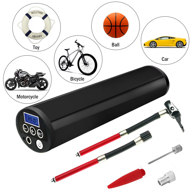 150PSI 12V Portable Electric Car Bicycle Ball Air Inflatable Pump LCD Air Compressor Auto Bike Tire Inflator Pump Mayitr 150psi 12v portable electric inflatable pump lcd air compressor auto ball car bike tire inflator pump with adapter mayitr