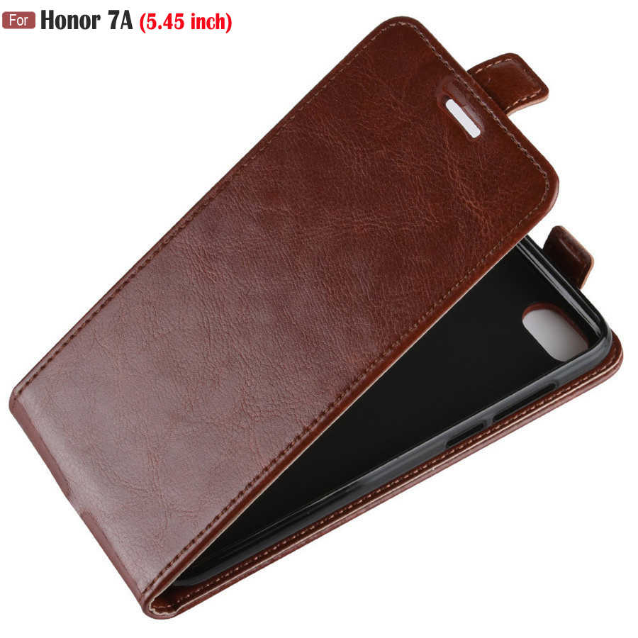 "huawei Honor 7A Case on Honor 7A dua-l22 Case 5.45"" inch Retro Leather Vertical Flip Case For Huawei Honor 7A 7 A dua l22 Cover"