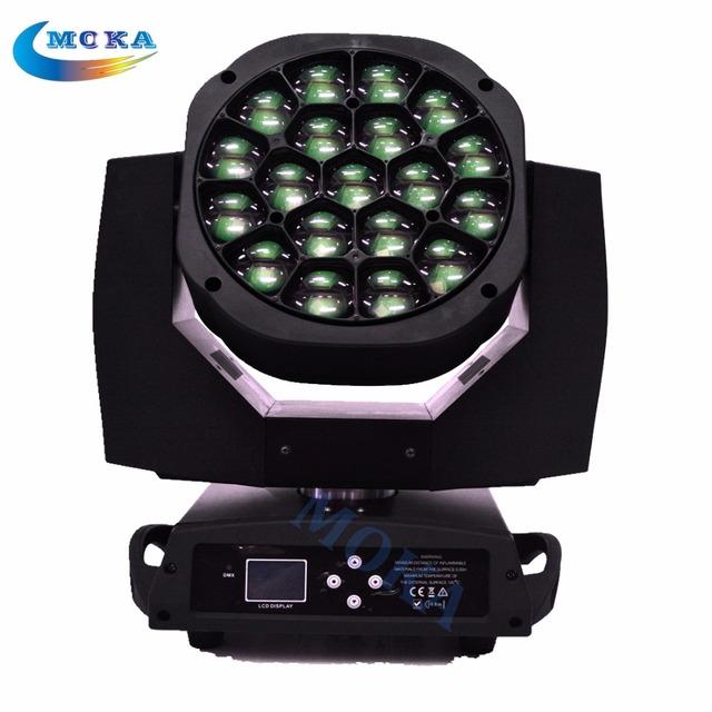 19 x 15 W RGBW 4in 1 LED de olhos abelha movendo a cabeça luz de iluminação de discoteca para o concerto / festa / estágio