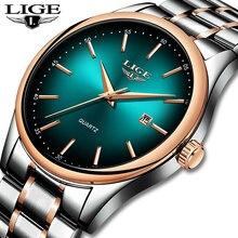 LIGE Mens Watches Military Luxury Brand Watch Quartz Stainless Steel Clock Fashion Chronograph Man Relogio Masculino