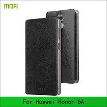 Для Huawei Honor 6A случае MOFI Флип кожаный чехол для Huawei Honor 6A чехол телефона