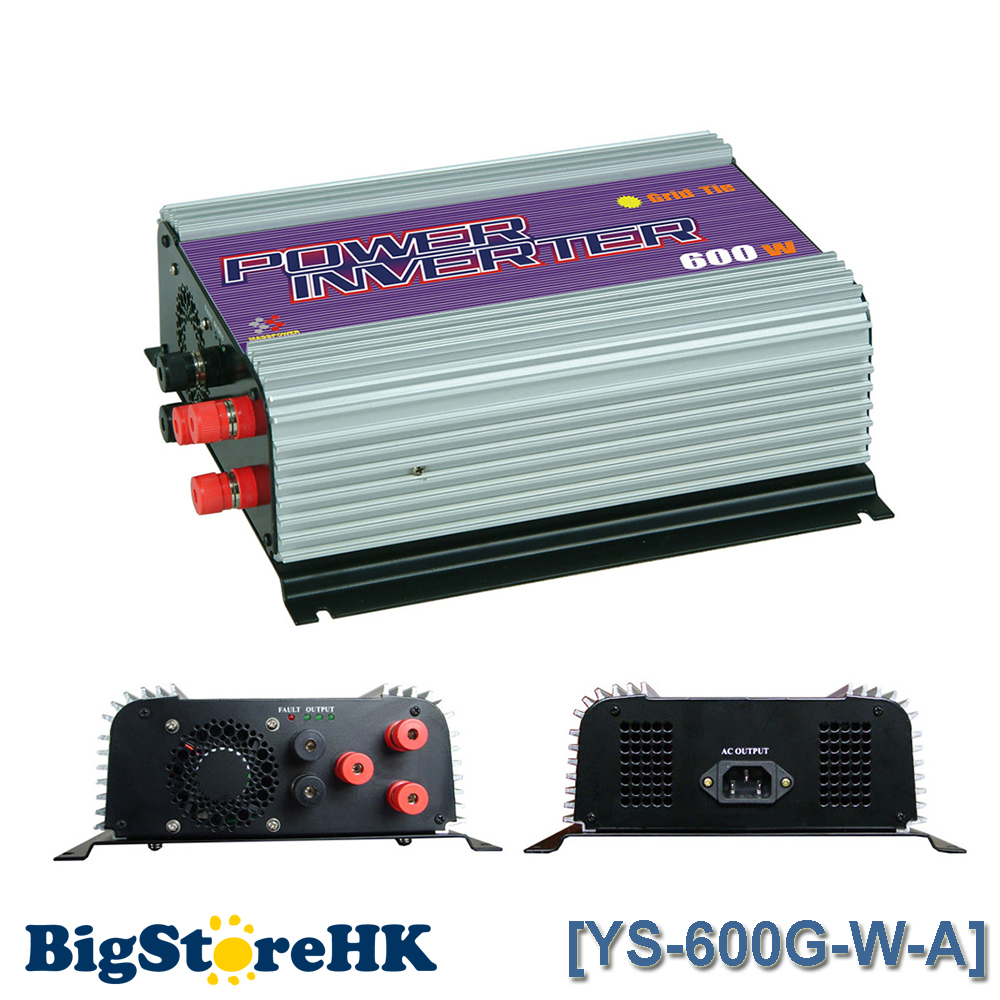 600W Grid Tie Power Inverter for 3 Phase AC To AC Wind Turbine MPPT Pure Sine Wave Inverter Build In Rectifier 600w grid tie power inverter lcd 220v pure sine wave dc to ac solar power inverter mppt 10 8v to 30v or 22v to 60v input new