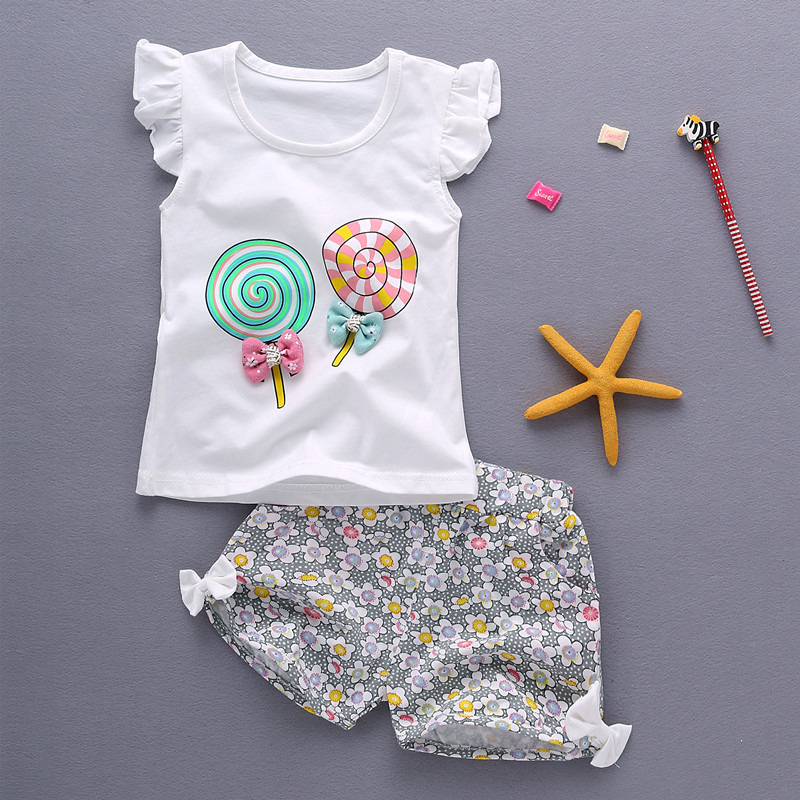 Bibicola baby girl summer clothing set children clothing tops & shorts girl clothes kids cotton sport suit clothes summer casual denim newborn toddler baby girl clothing kids off shoulder crop tops shorts outfit clothes set