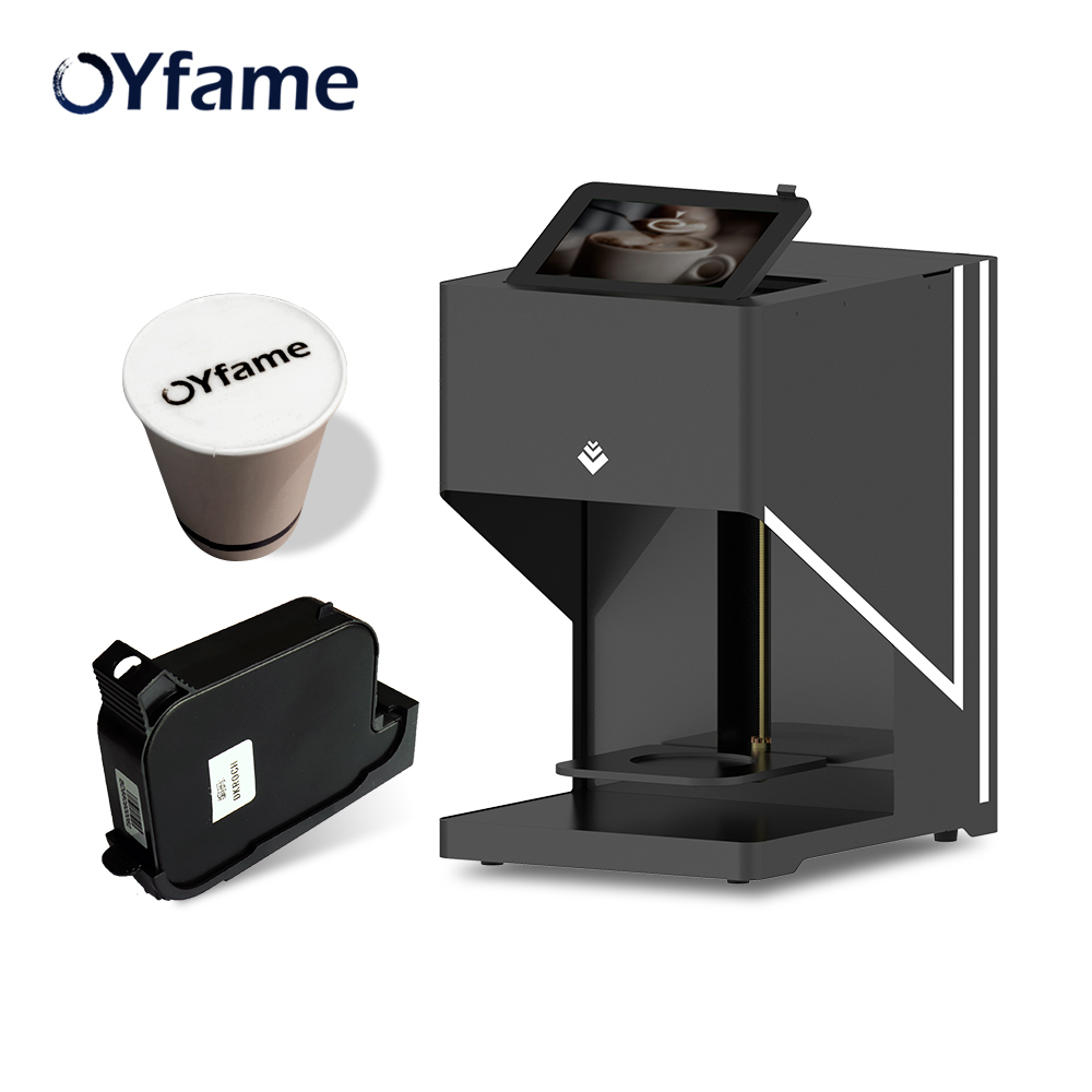 OYfame Art Coffee Printer Latte Coffee printer automatic printer Art Beverages Food selfie coffee with WIFI